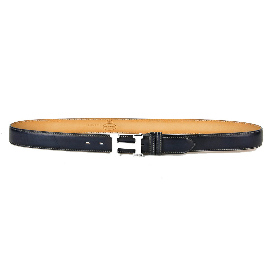 Harris H Buckle Dark Navy Blue Belt
