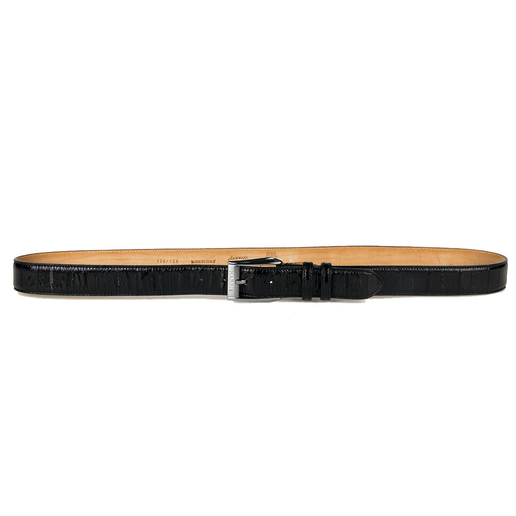 Harris Black Water Snake Skin Belt