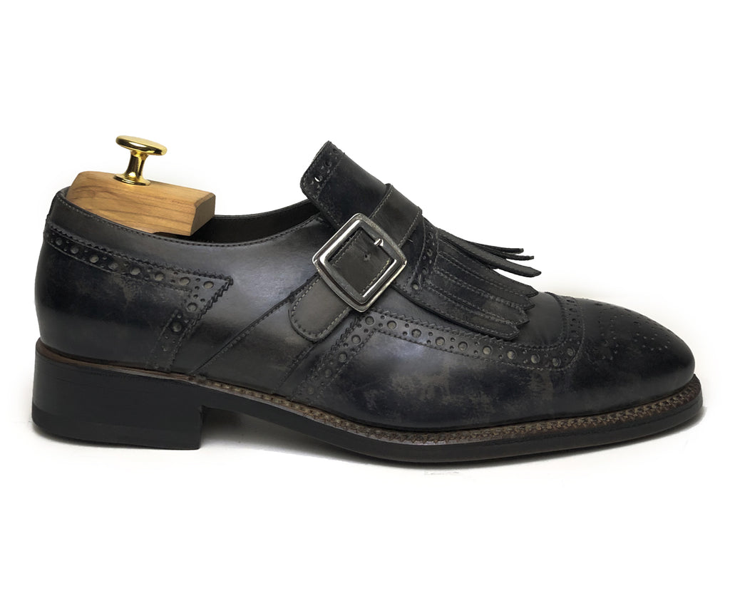 Harris Classic Shoes With Grey / Black Buckle