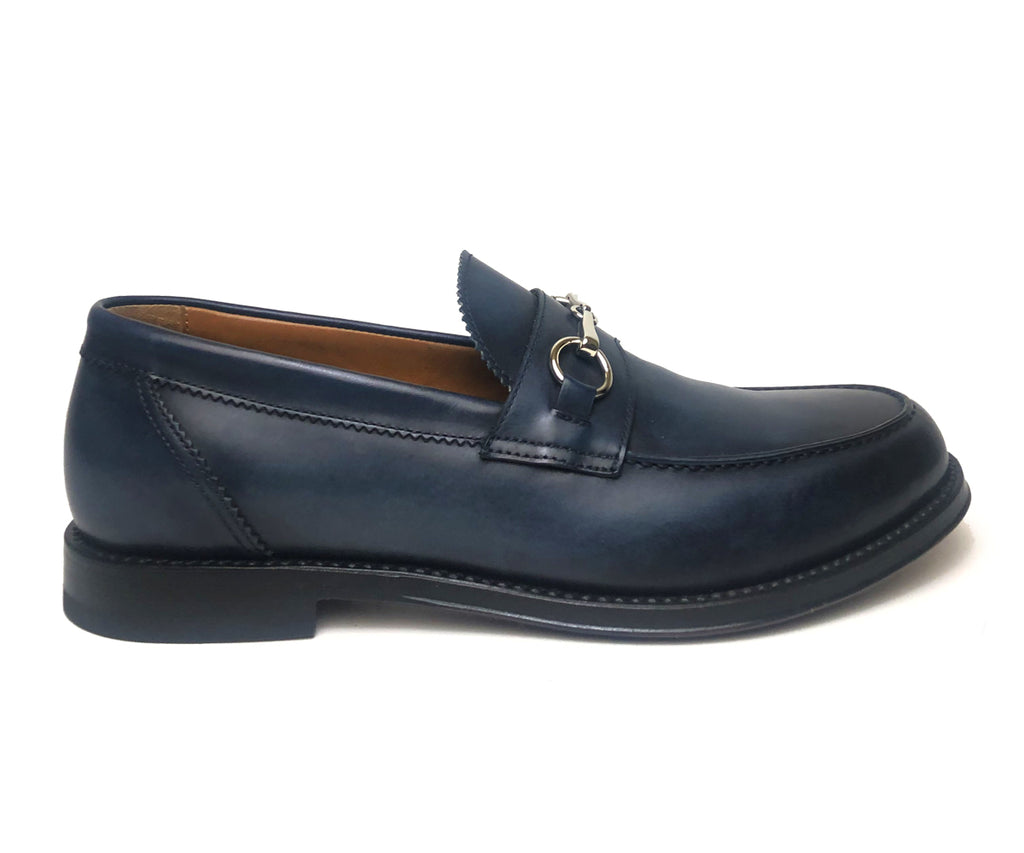Franceschetti Blau Horsebit-Loafer