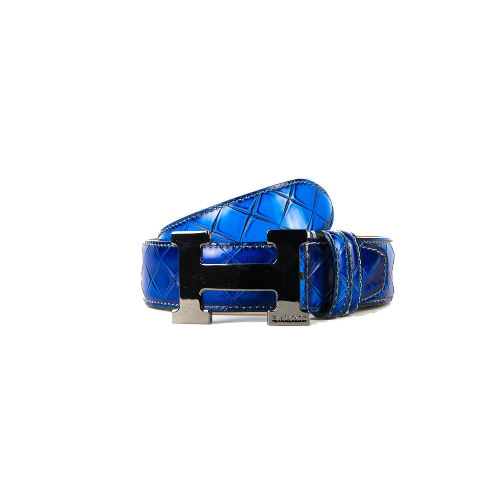 Harris H Buckle Blue Sports Belt