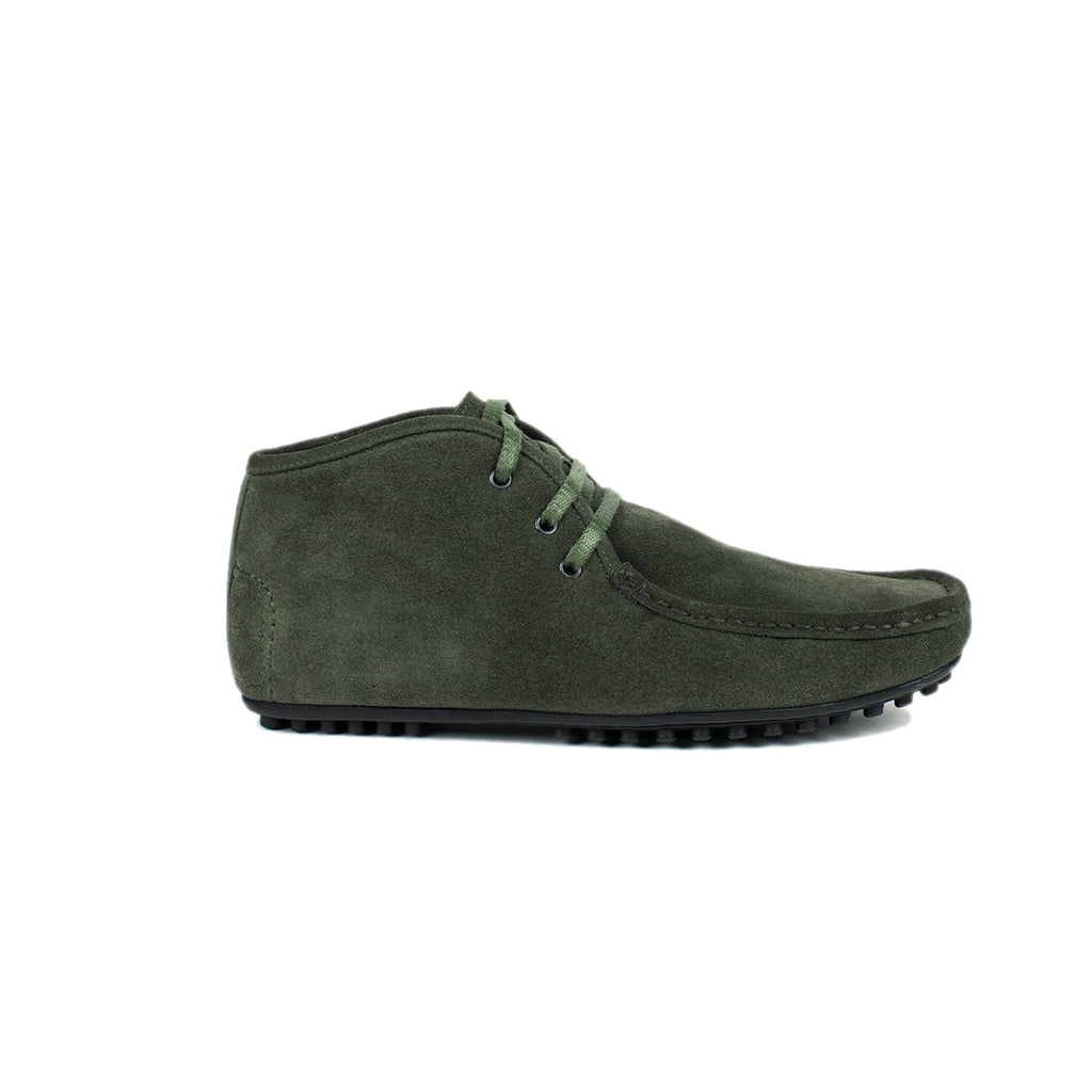Enrico Marinelli Green Suede-Suite Loafer