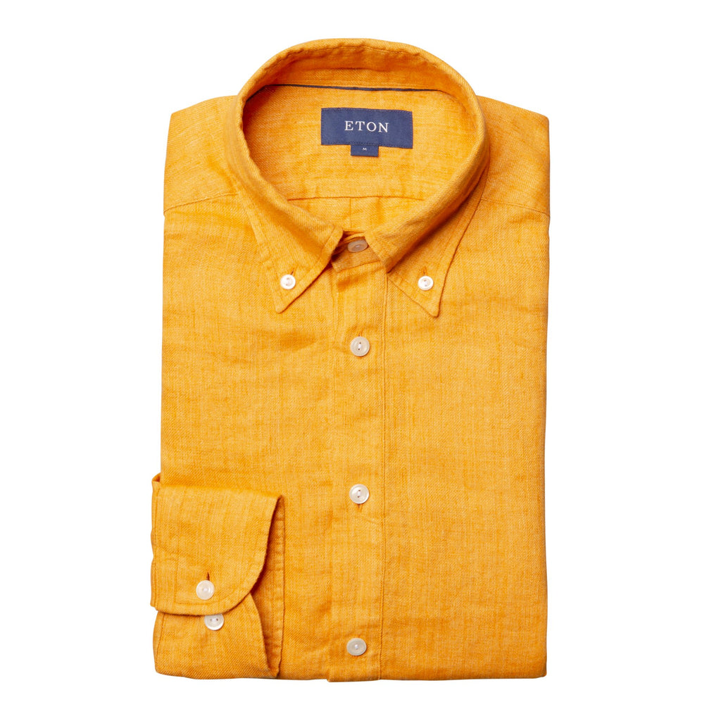 Eton Yellow Linen Shirt