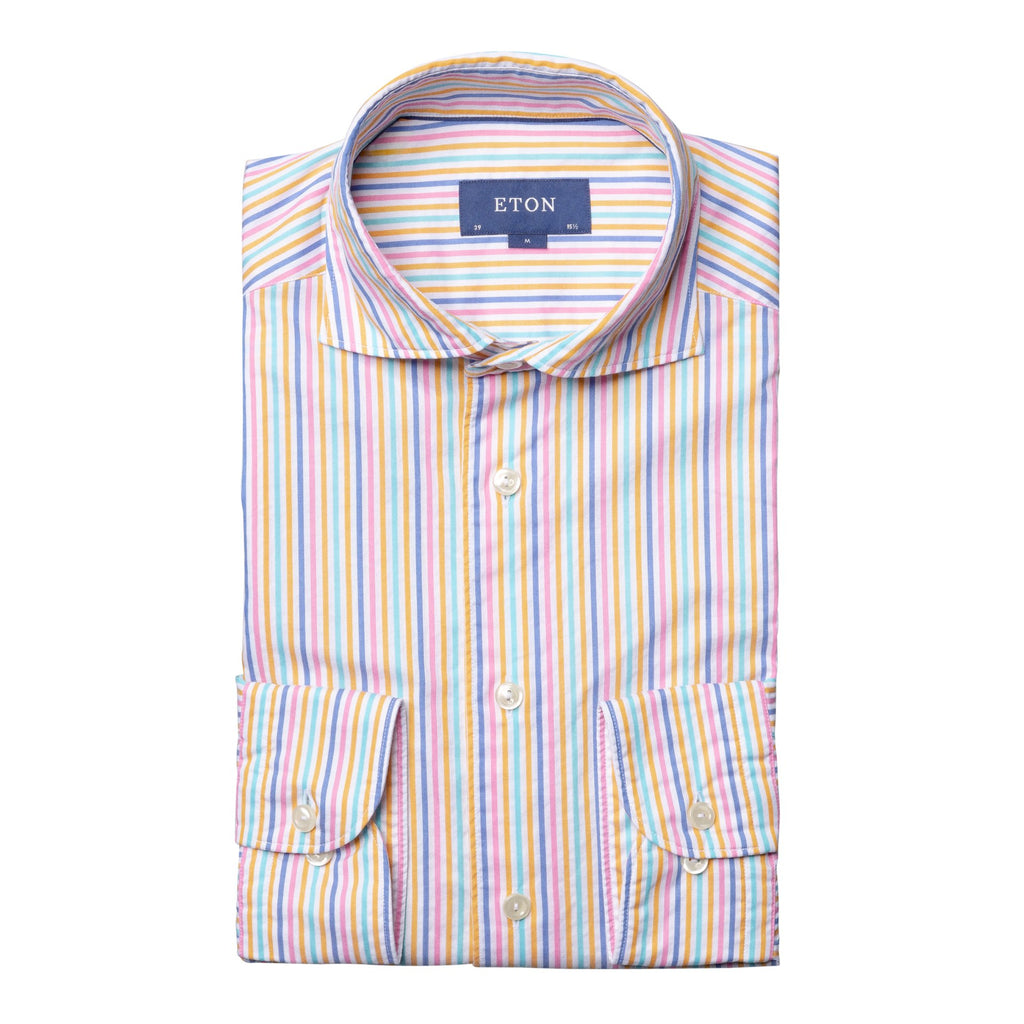 Eton Striped Cotton Shirt