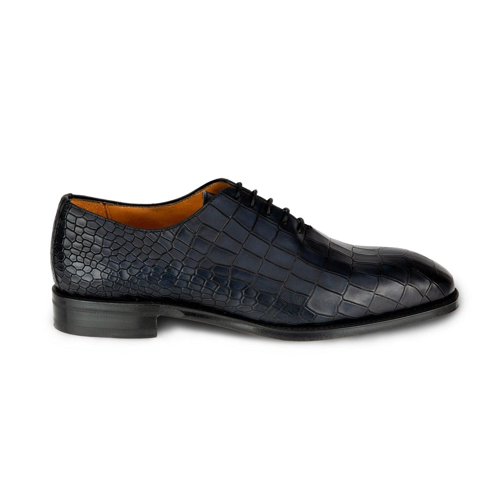Berwick marineblau Alligator Muster Herrenschuhe