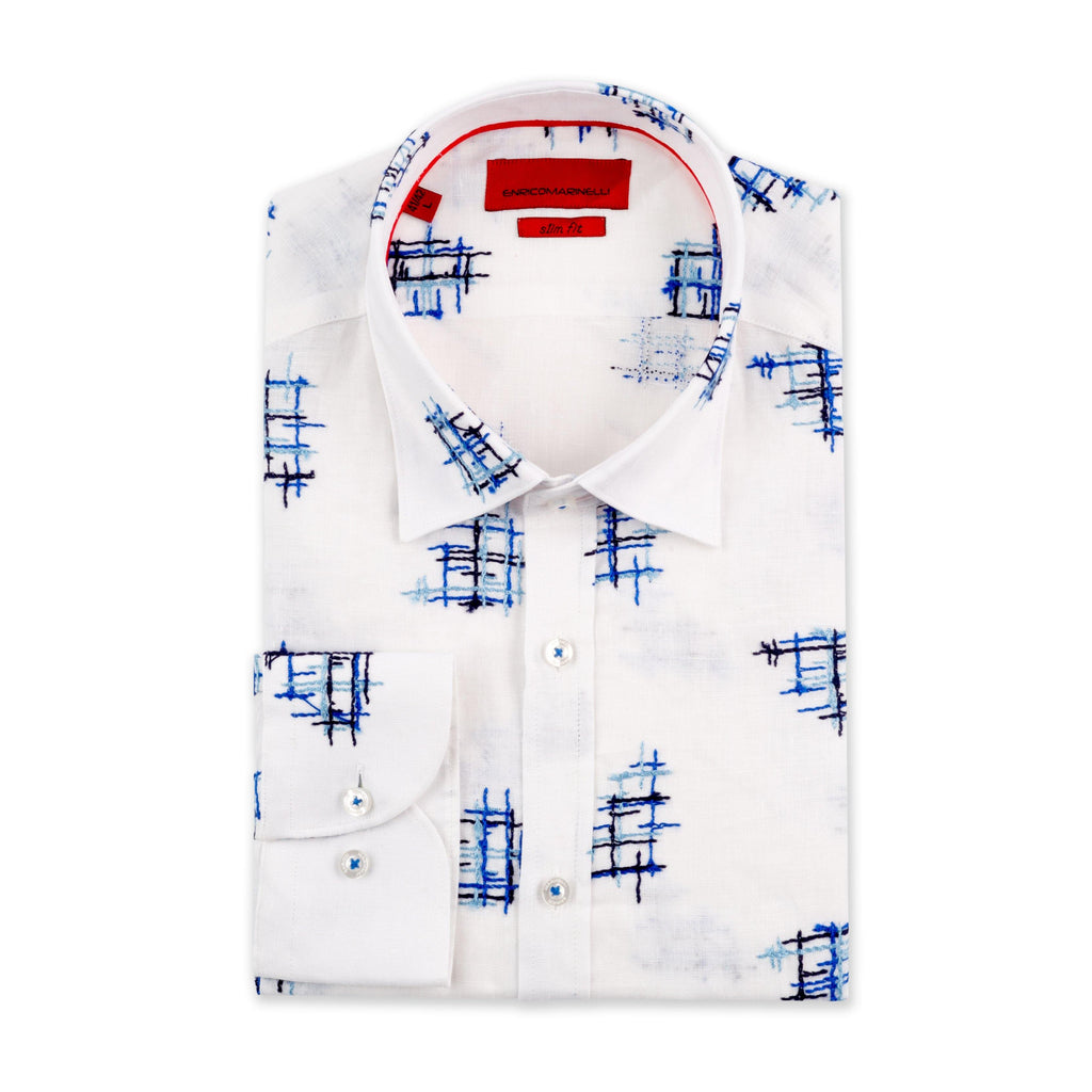 ENRICO MARINELLI CASHED LINEN SHIRT