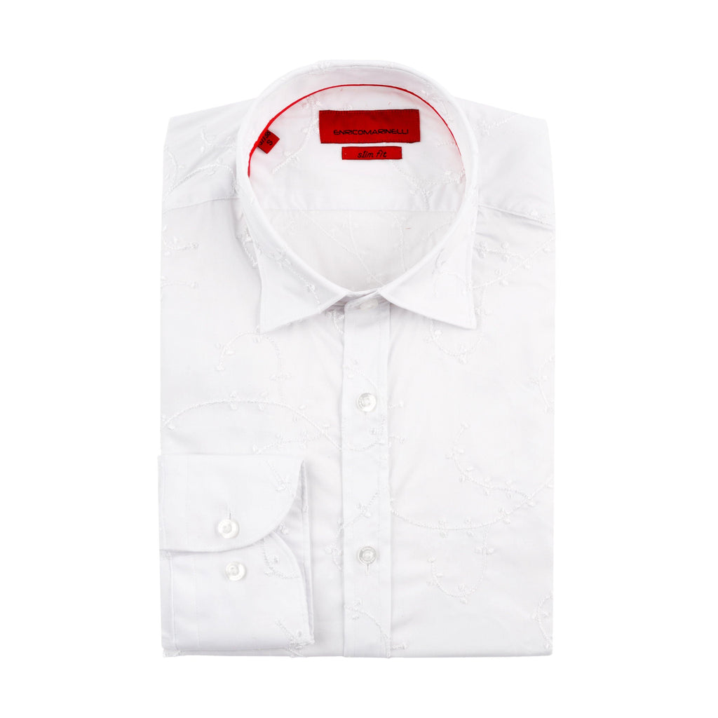 ENRICO MARINELLI EMBROIKY WHITE SHIRT