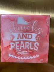 Chucks and Pearls Coasters