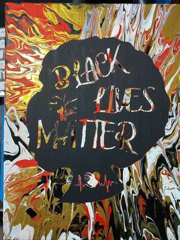 Black Lives Matter Female Silouette Painting