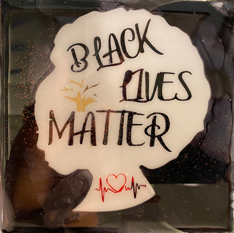 Black Lives Matter Female Silouette