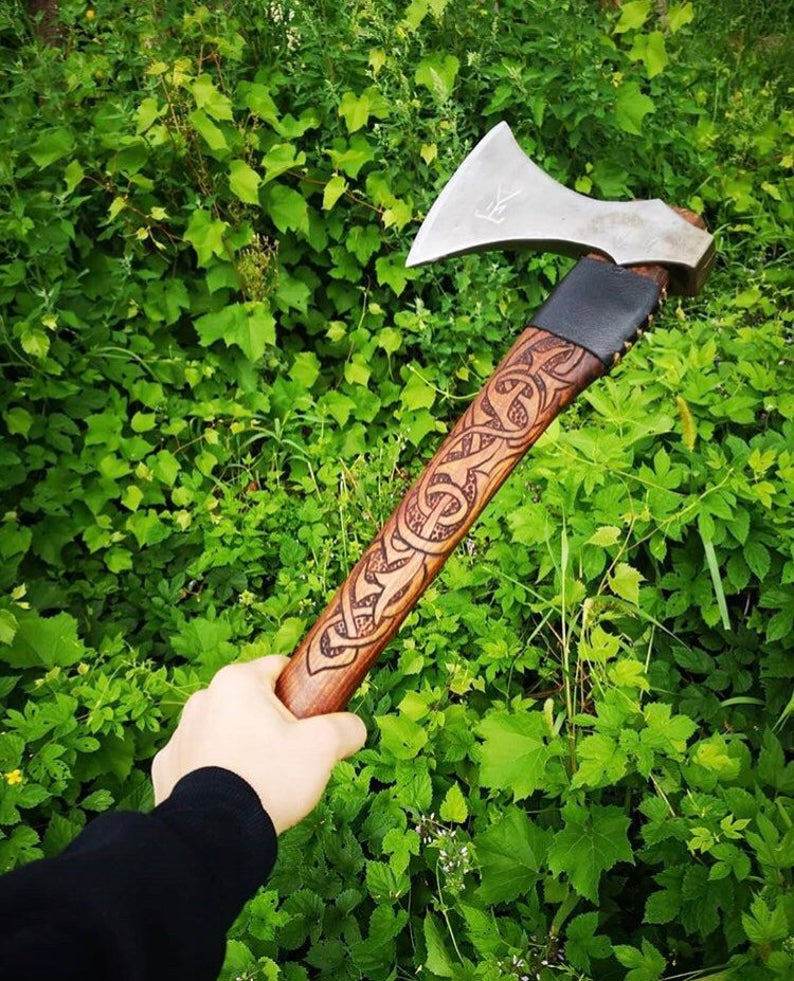hand forged battle axe