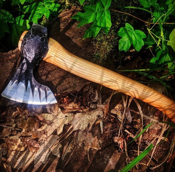 forged viking axe