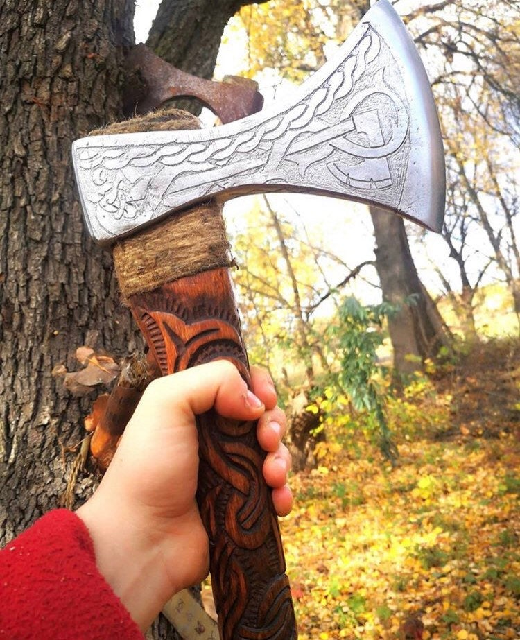 authentic viking axe for sale