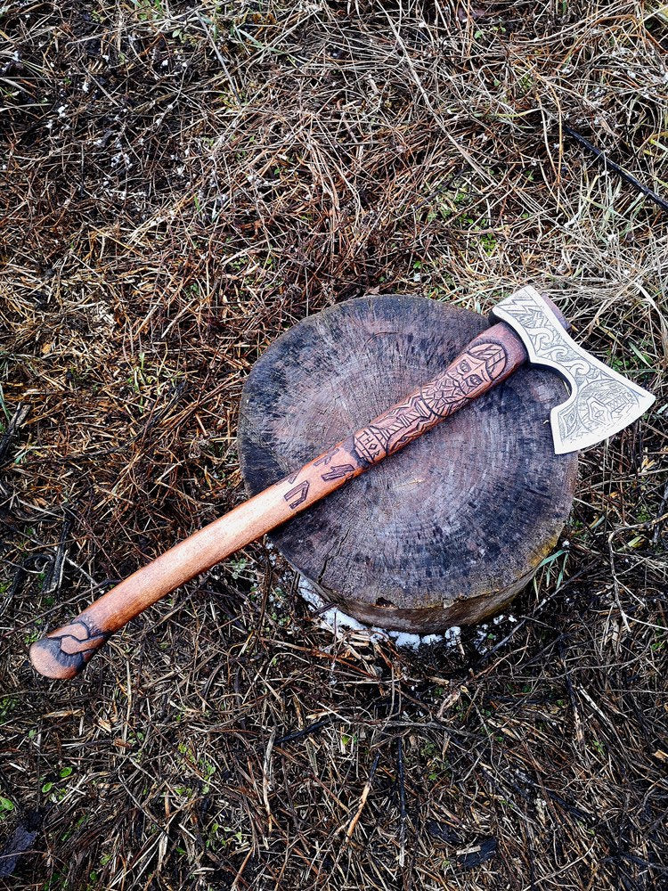 Custom viking axe