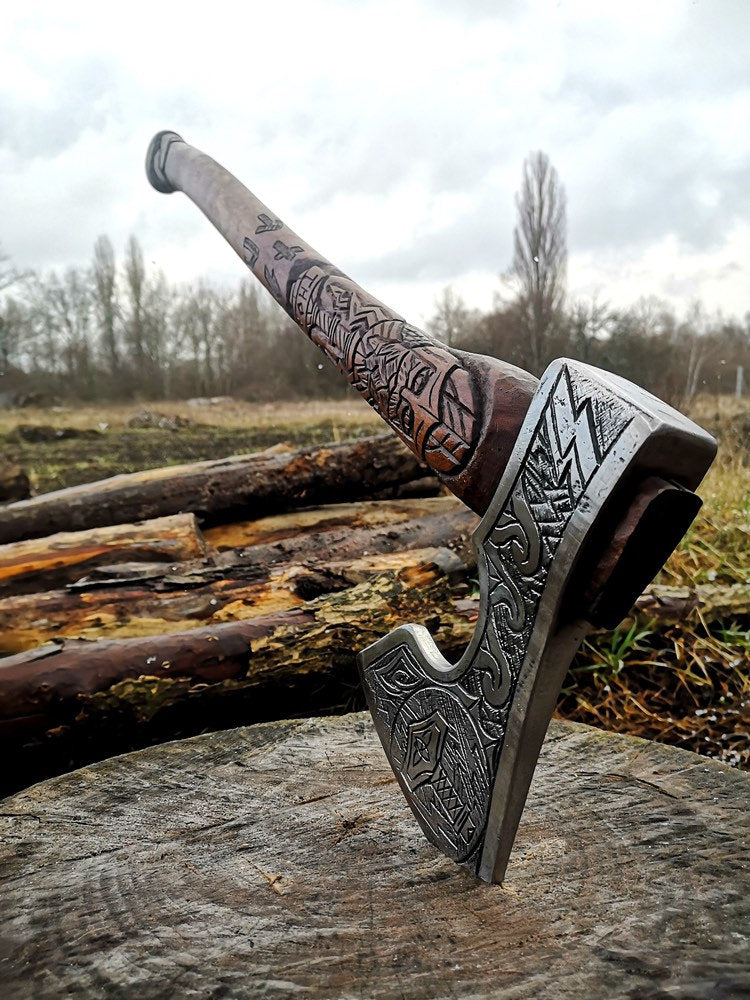 Personalized viking axe