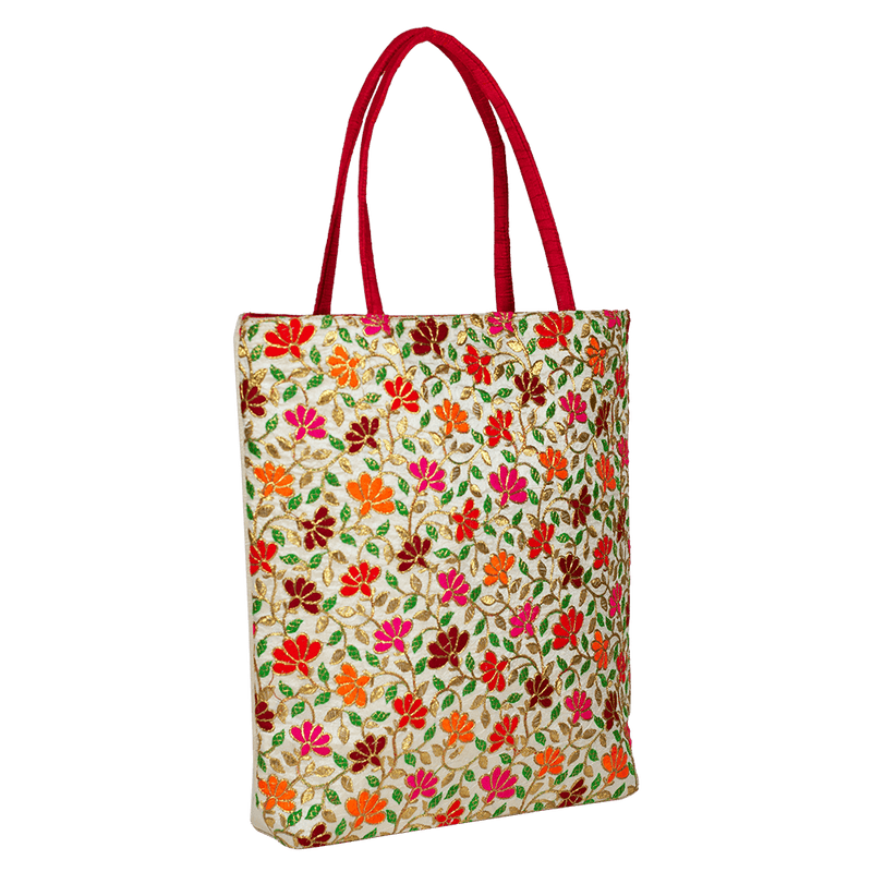 Floral embroidered Tote Bag for Women