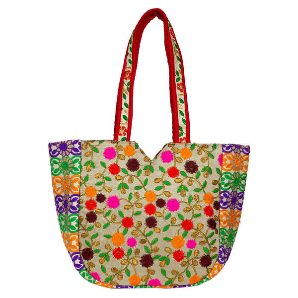 Multi-colored Floral Envelope Bag For Women