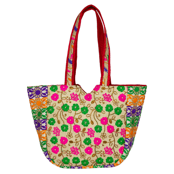 Indian embroidered Tote Bag for Women