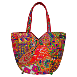 Jaipuri Multi-coloured boho designer bag
