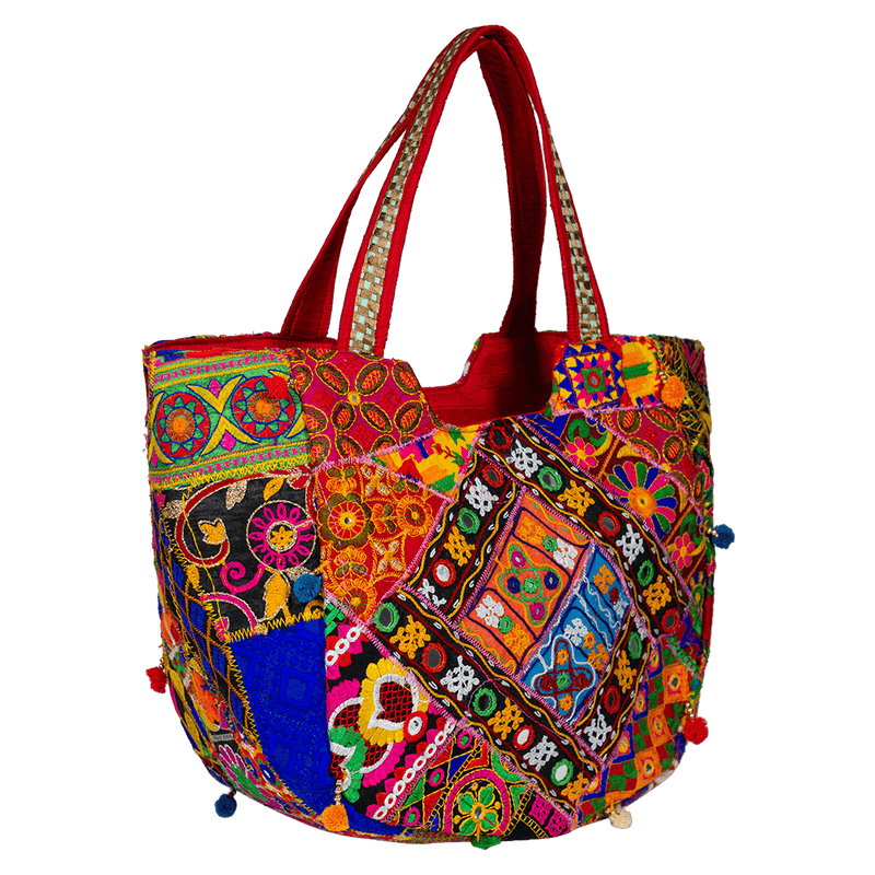 Jaipuri ethnic embroidered handbag
