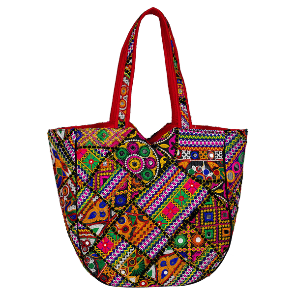Rajasthani multi coloured boho bag