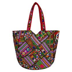 Ethnic embroidered boho bag