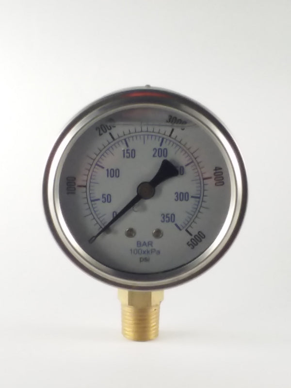 "0-5000PSI/BAR-KPA LM 2-1/2"" Liquid Filled Gauge"