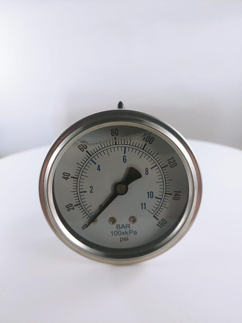 "2-1/2"" Liquid Filled Gauge 0 to 160 PSI"