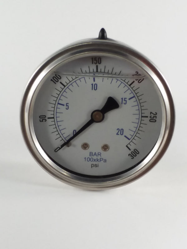 "0-300PSI/BAR-KPA CBM 2-1/2"" Liquid Filled Gauge"