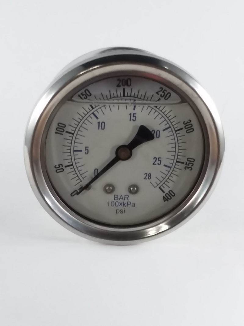 "0-400PSI/BAR-KPA CBM 2-1/2"" Liquid Filled Gauge"