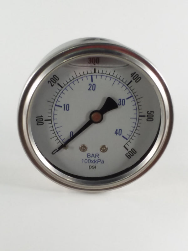"0-600PSI/BAR-KPA CBM 2-1/2"" Liquid Filled Gauge"