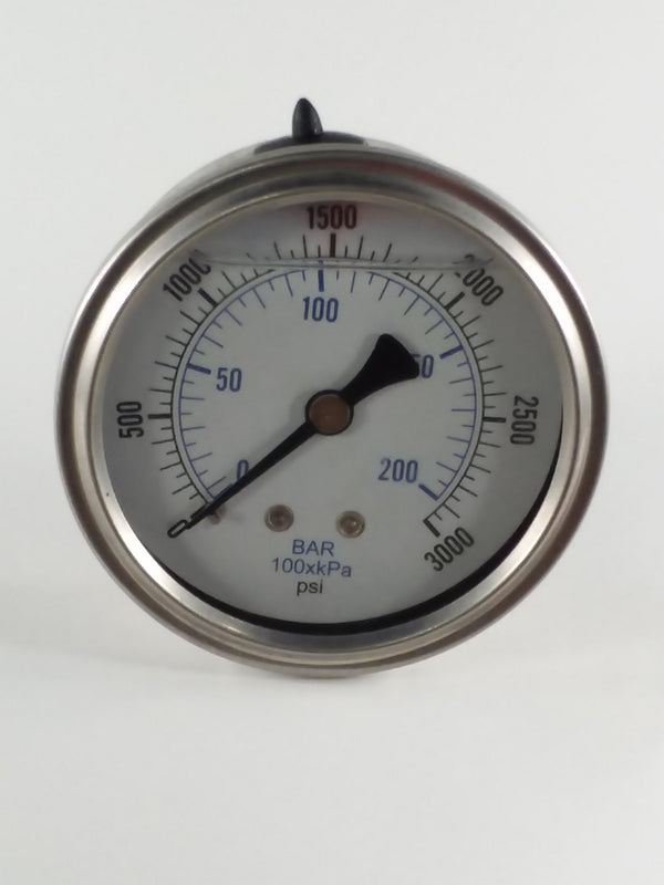 "0-3000PSI/BAR-KPA CBM 2-1/2"" Liquid Filled Gauge"