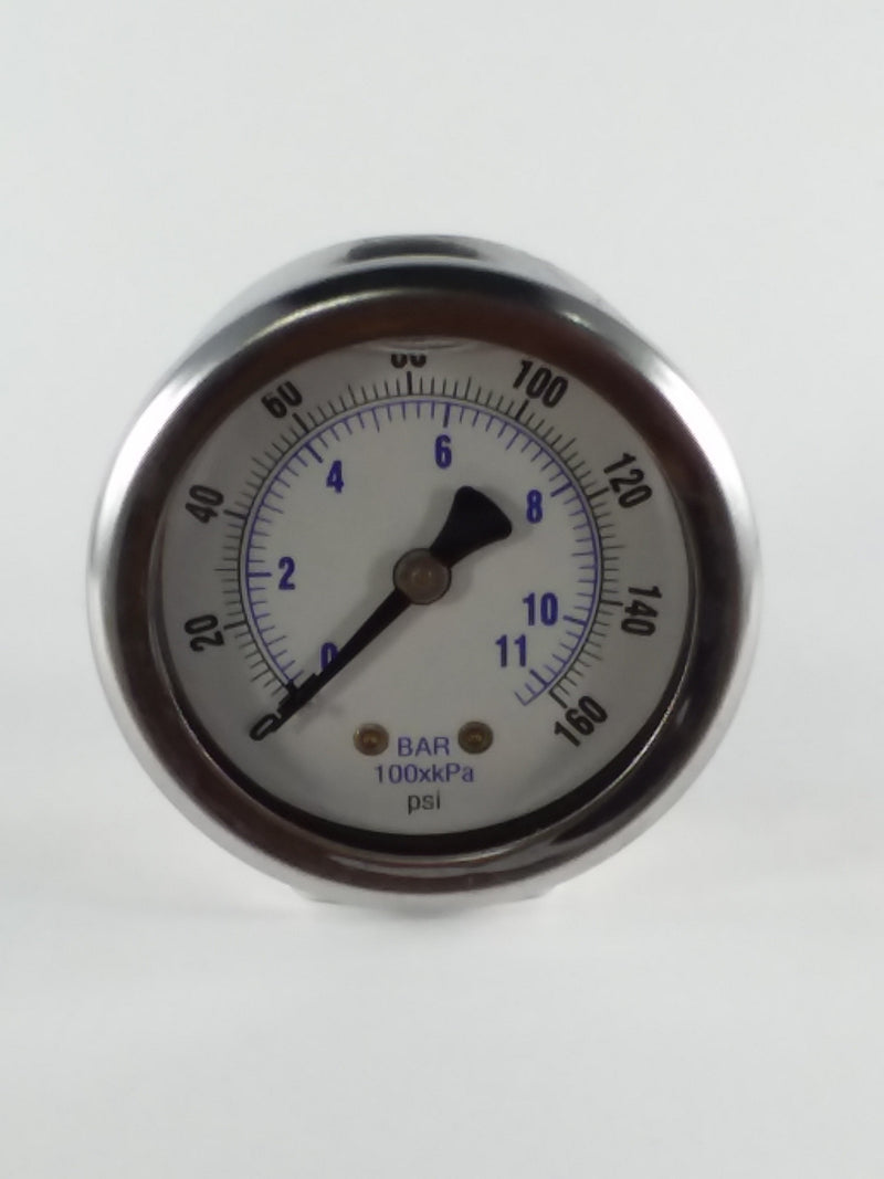 "2"" Liquid Filled Gauge 0 to 160 PSI"