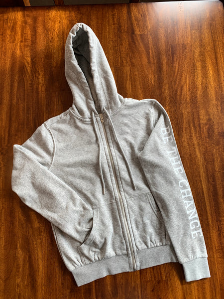 Light Grey Zip-Up Hoodie