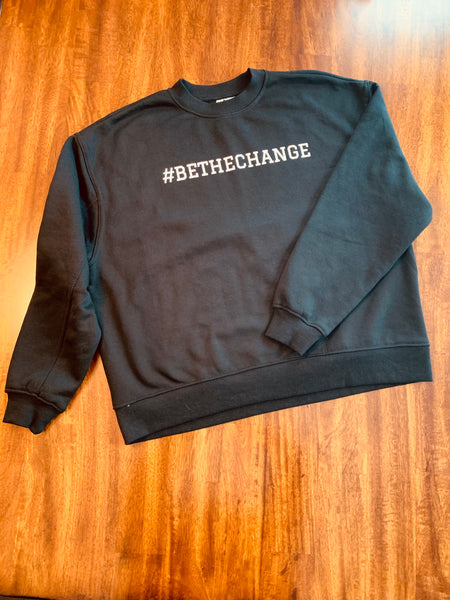 Women's Black Cropped Pullover Fleece