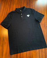 Men's Black Golf Shirt - Slim Fit