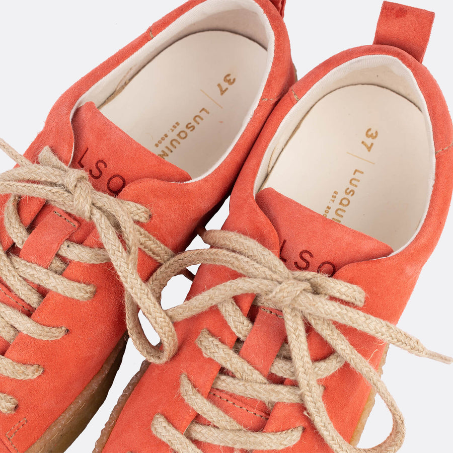 Lusquinos | Women's sustainable coral derby shoe
