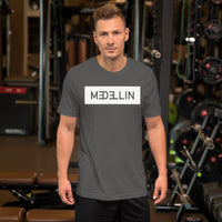 Premium Short-Sleeve Medellín T-Shirt with square design