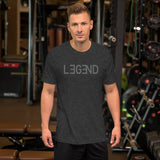 Short-Sleeve LEGEND T-Shirt with Grey Print