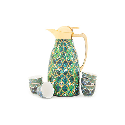 Thermos and cups - Amazonia Design - Set of 7 pieces