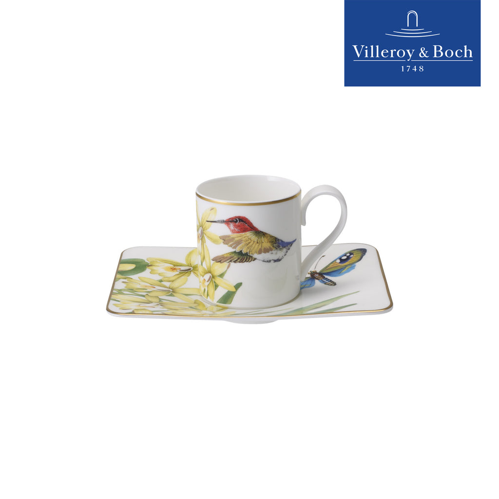Espresso Cups With Saucers - Amazonia - Villeroy & Boch - Set For 6 People