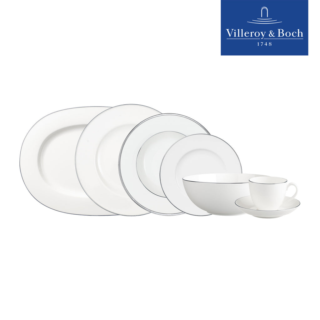 Dinner Set - Anmut Platinum - Villeroy & Boch - Set Of 32