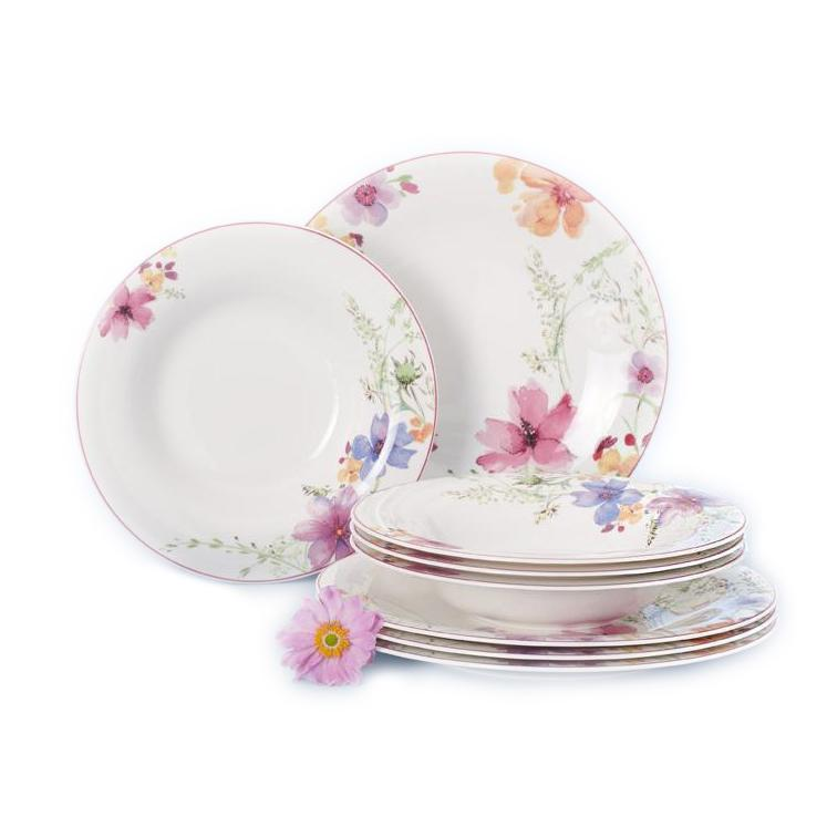 12 Pieces Dinner Set For 6 People - Mariefleur -