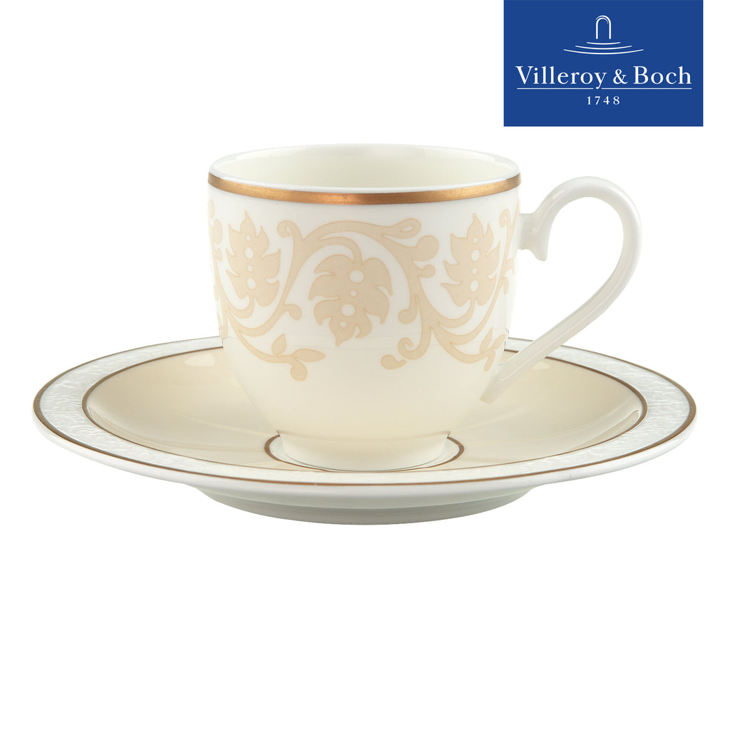 Espresso Coffee Cups With Saucers - Ivoire - Villeroy & Boch - Set For 6 People