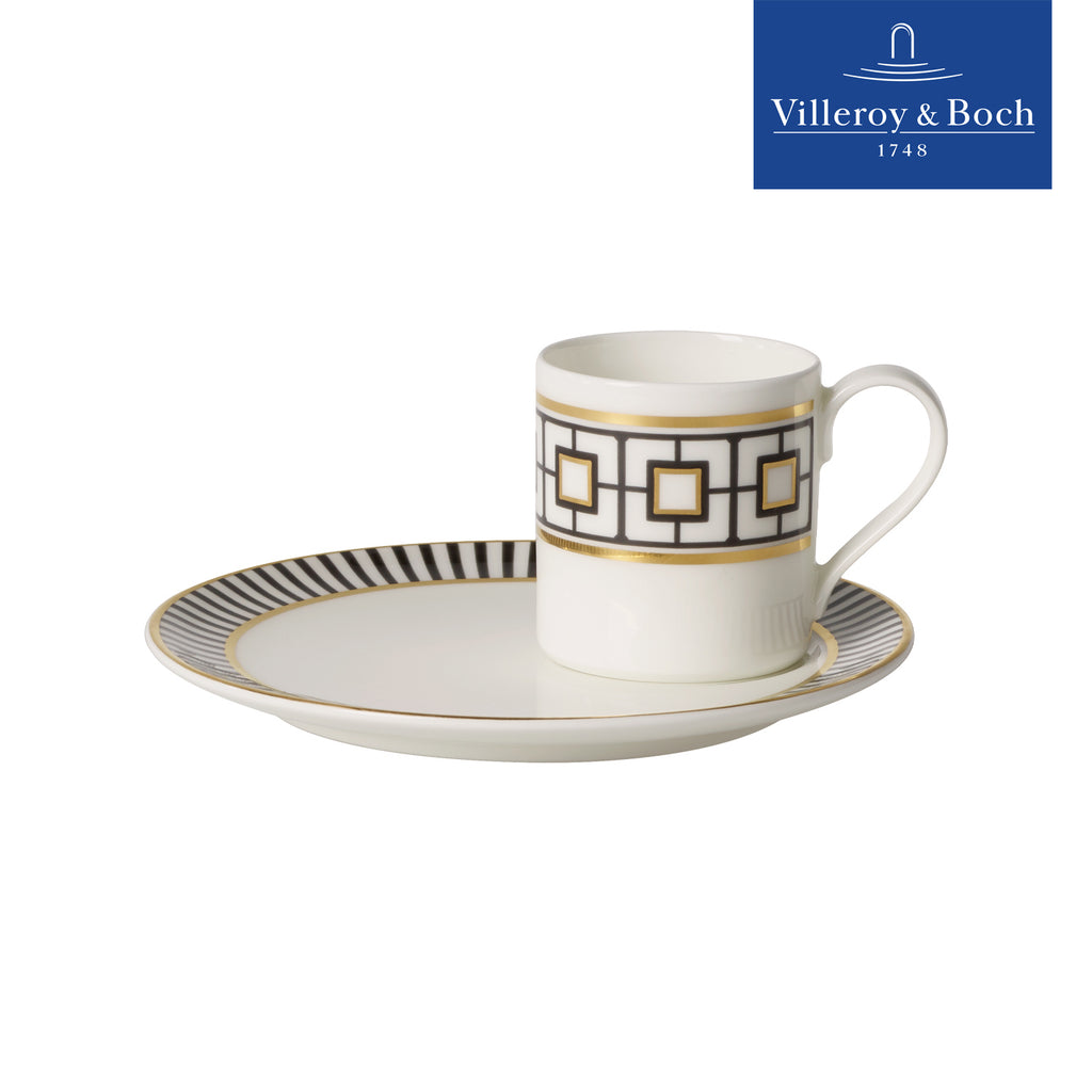 Espresso Coffee Cups With Saucers - Metrochic - Villeroy & Boch - Set For 6 People