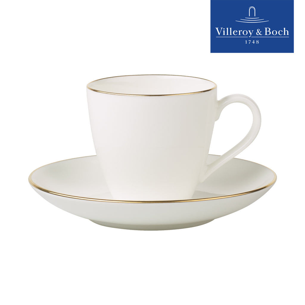 Anmut Gold - 0.15 Liter Espresso Or Turkish Coffee With Saucer - 6 People