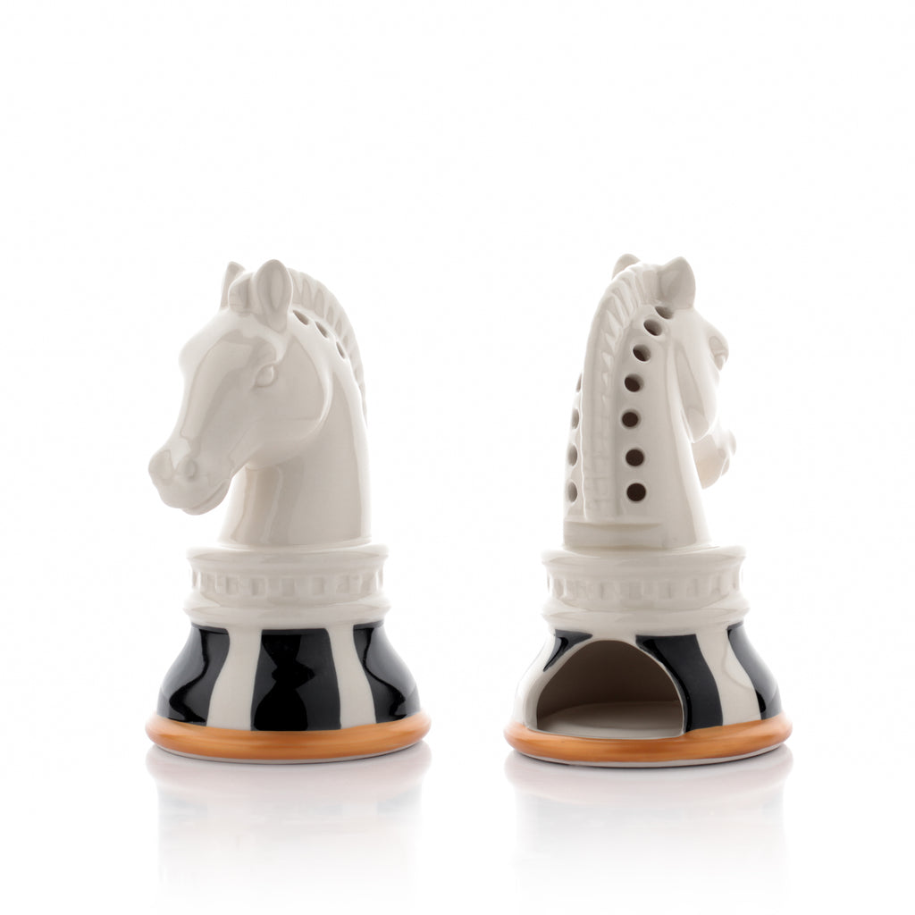 Porcelain Candle Holder - Chess Horse