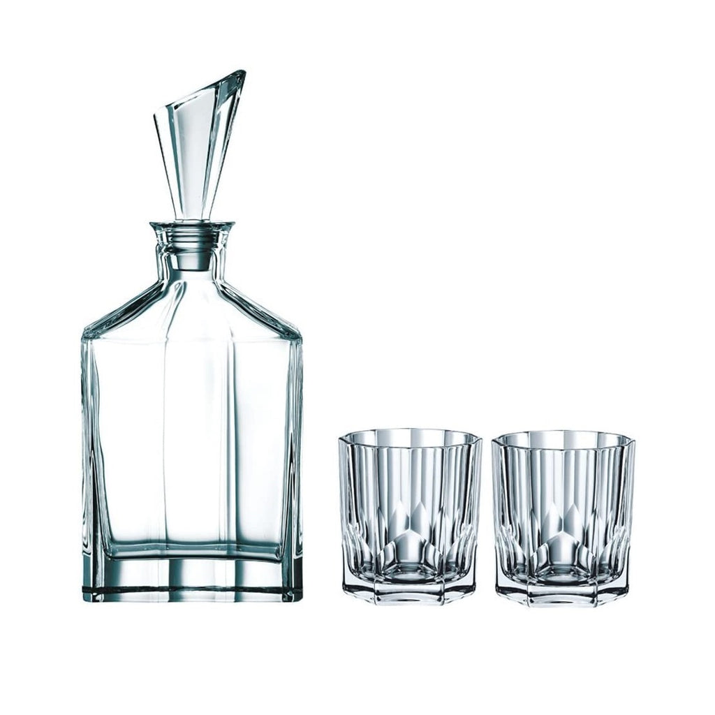 Crystal Decanter - Set Of 3 Pieces