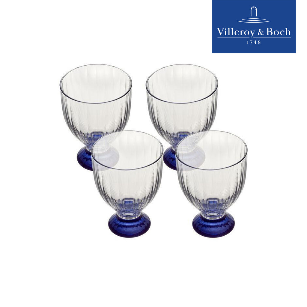 Glasses 390 Ml - Artesano Bleu - Villeroy & Boch - Set Of 4