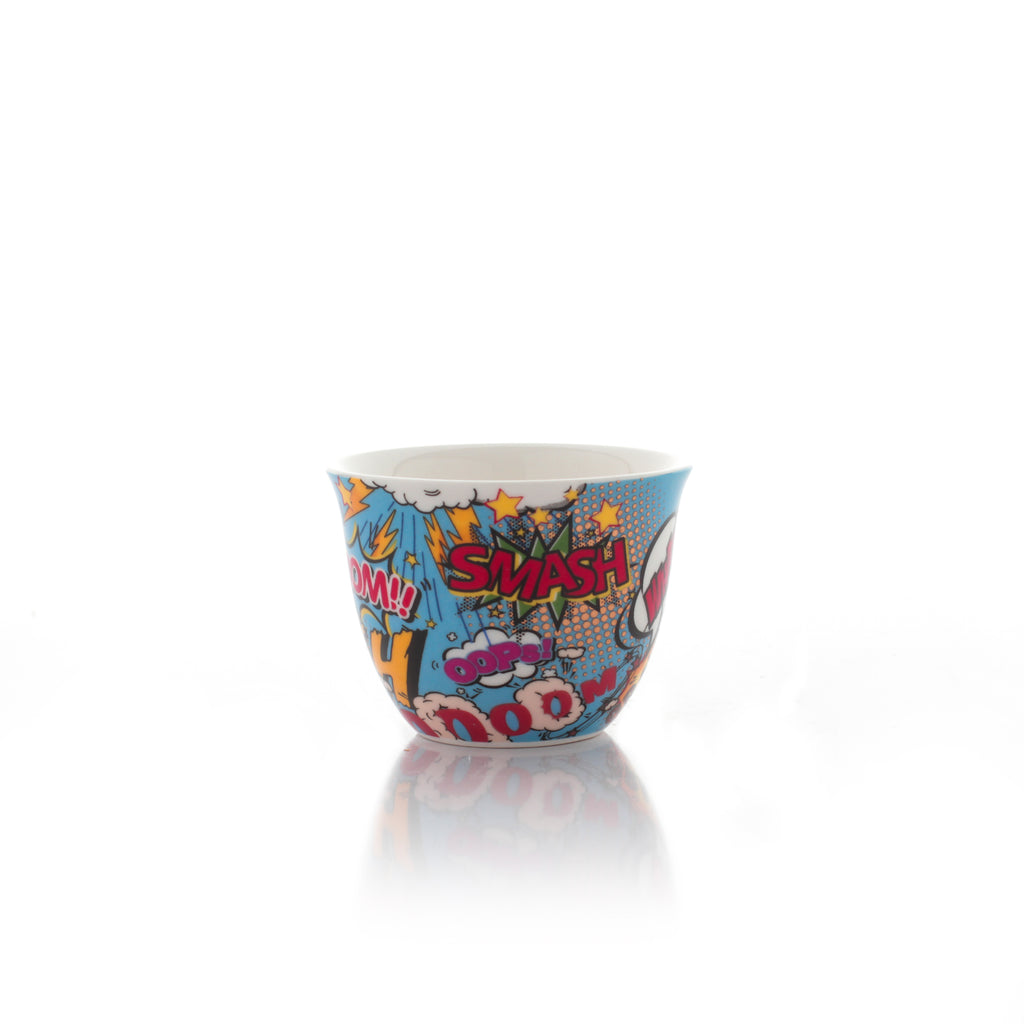 Arabic Coffee Cups - Pop Art - Set Of 12